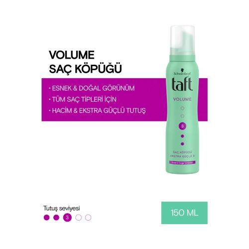 Taft Saç Köpüğü Volumen 3 Ekstra Güçlü 150 Ml