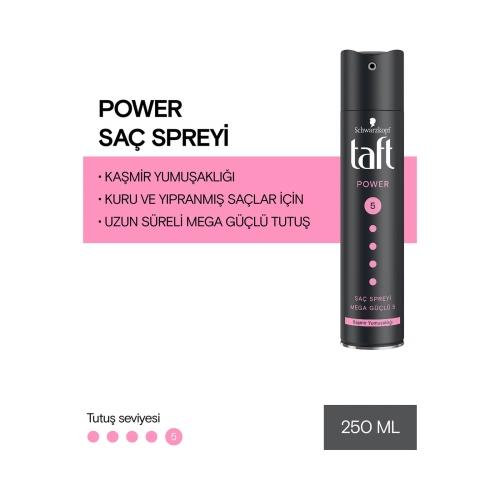 Taft Power Kaşmir Parlaklığı Mega Güçlü Saç Spreyi 150 Ml