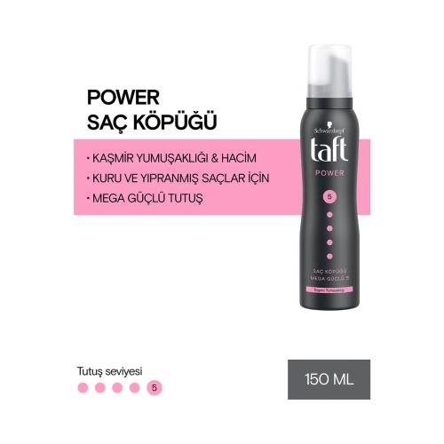 Taft Saç Köpüğü Power 150 Ml Siyah