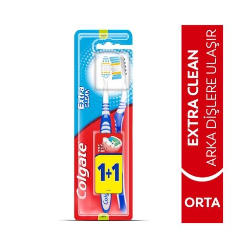 Colgate Extra Clean Orta Diş Fırçası 1+1