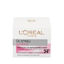 L'Oréal Paris Üç Etkili Günlük Bakım Kremi Kuru/Hassas Ciltler