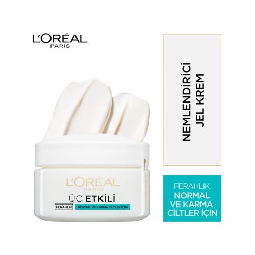 L'Oréal Paris Üç Etkili Ferahlık Krem Normal/Karma 50 Ml
