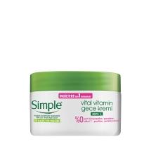 Simple Vital Vitamin Gece Kremi 50 Ml