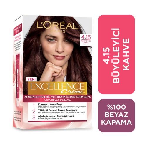 L'Oréal Paris Excellence Creme Saç Boyası 4-15 Büyüleyici Kahve