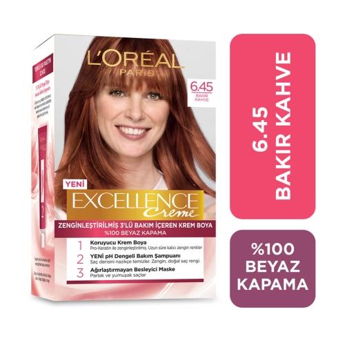 L'Oréal Paris Excellence Creme Saç Boyası 6-45 Bakır Kahve