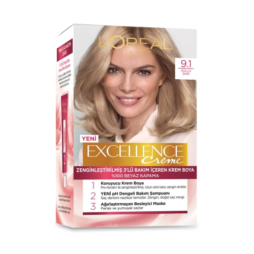 L'Oréal Paris Excellence Creme Saç Boyası 9-1 Küllü Sarı