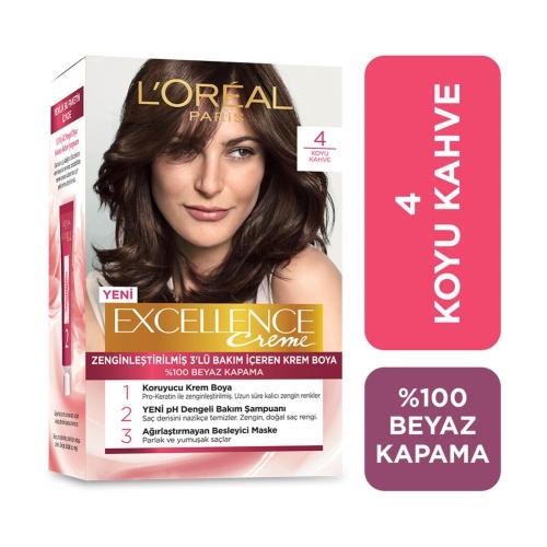 L'Oréal Paris Excellence Boya 4 Koyu Kahve