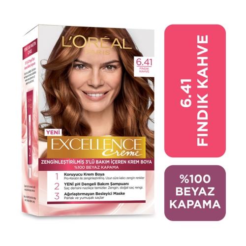 L'Oréal Paris Excellence Creme Saç Boyası 6-41 Fındık Kahvesi