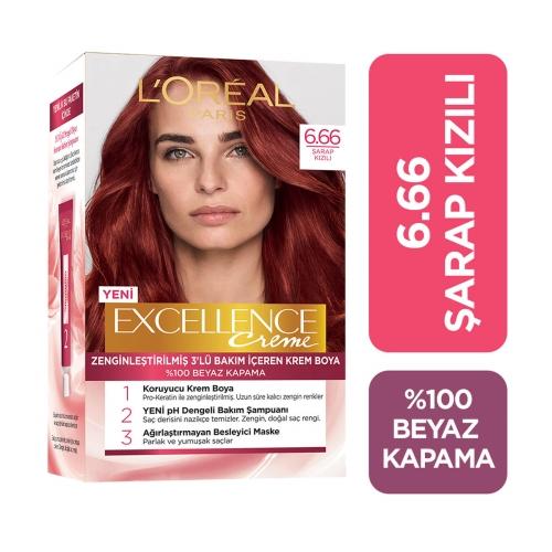 L'Oréal Paris Excellence Creme Saç Boyası 6-66 Şarap Kızılı