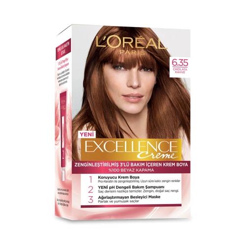 L'Oréal Paris Excellence Creme Saç Boyası 6-35 Çikolata Kahve