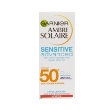 Garnier Ambre Solaire Sensitive Advanced Yüz Koruma Kremi 50 Gkf 50 Ml