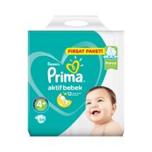 Prima Aktif Bebek 4 + Beden Maxi Plus Fırsat Paket 54'lü 9-16 Kg