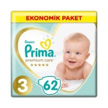 Prima Bebek Bezi Premium Care 3 Beden Midi Jumbo Paket 62 Adet