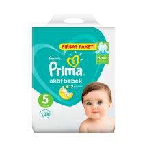 Prima Bebek Bezi Aktif Bebek 5 Beden Junior Fırsat Paketi 46 Adet