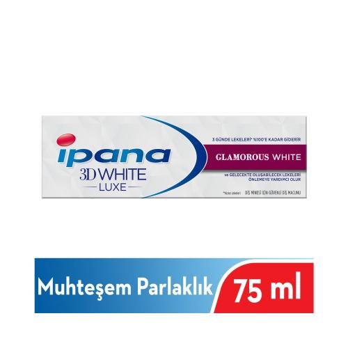 İpana 3 Boyutlu Beyazlık Luxe Diş Macunu Glamorous White Muhteşem Parlaklık 75 ML