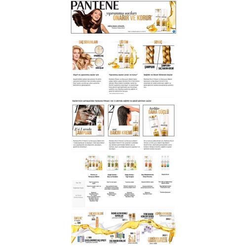 Pantene 3'ü 1 Arada Şampuan ve Saç Bakım Kremi Onarıcı ve Koruyucu Bakım 400 Ml