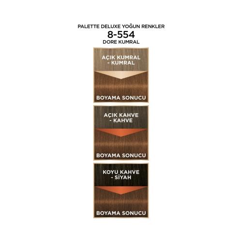 Palette Deluxe Yoğun Renkler 8-554 Dore Kumral