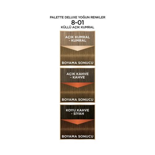 Palette Deluxe Yoğun Renkler 8-01 Küllü Açık Kumral