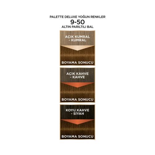 Palette Deluxe Yoğun Renkler 9-50 Altın Parıltılı Bal