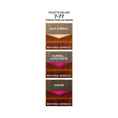 Palette Deluxe 7-77 Yoğun Parlak Bakır