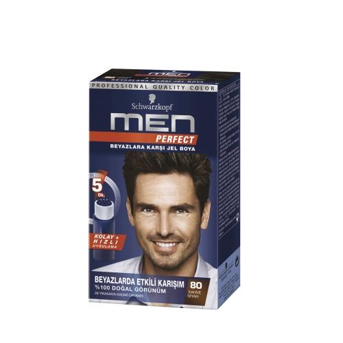 Schwarzkopf Men Perfect Saç Boyası 80 - Kahve Siyah