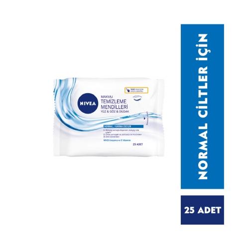 Nivea 3'ü 1 arada Makyaj Temizleme Mendilleri Normal Ciltler 25 Adet