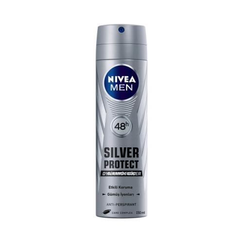 Nivea Deodorant Sprey Silver Protect For Erkek 150 Ml