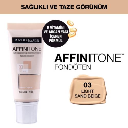 Maybelline Affinitone Fondöten 03 Light Sandbeige