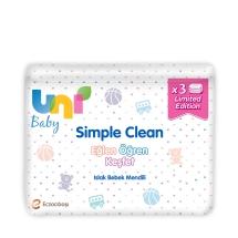 Uni Baby Wipes Özel Seri Islak Bebek Havlusu 3'lü (52x3)