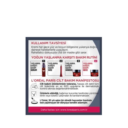 L'Oréal Paris Revitalift Laser X3 Gece Yoğun Yaşlanma Karşıtı Krem