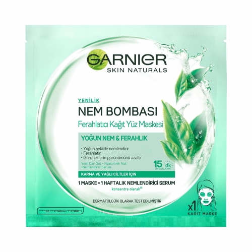 Garnier Nem Bombası Ferahlatıcı Kağıt Maskesi