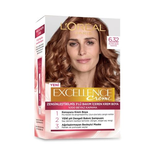 L'Oréal Paris Excellence Creme Saç Boyası 6-32 Altın Açık Kahve