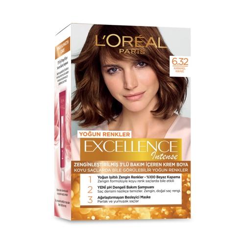 L'Oréal Paris Excellence Intense Saç Boyası 6-32 Karamel Kahve