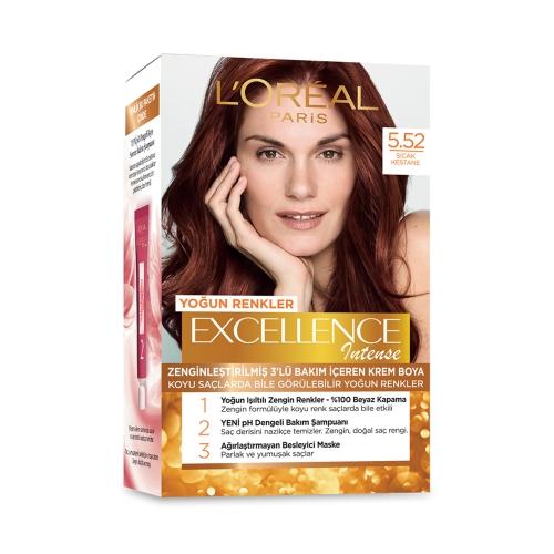 L'Oréal Paris Excellence Intense Saç Boyası 5-52 Sıcak Kestane