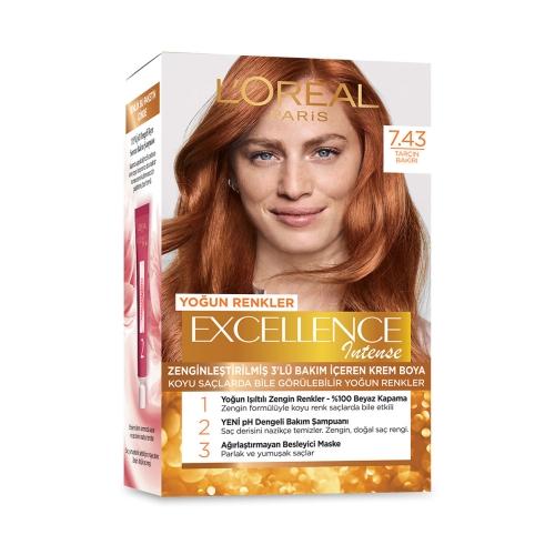 L'Oréal Paris Excellence Intense Saç Boyası 7-43 Tarçın Bakır