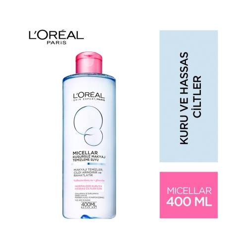 L'Oréal Paris Micellar Kusursuz Makyaj Temizleme Suyu Normalden Kuruya Hassas Ciltler İçin 400 Ml