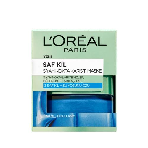 L'Oréal Paris Saf Kil Siyah Nokta Karşıtı Maske 50 Ml