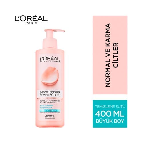 L'Oréal Paris Değerli Çiçekler Temizleme Sütü 400 Ml Normal ve Karma
