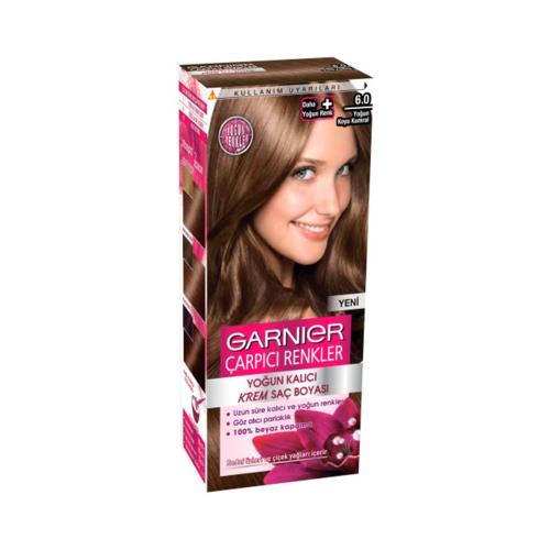 Garnier Çarpıcı Renkler Saç Boyası 6-0 Yoğun Koyu Kumral