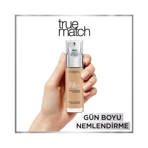 L'Oréal Paris True Match Cilt Bakım Etkili Fondöten 3D3W Beige Dore