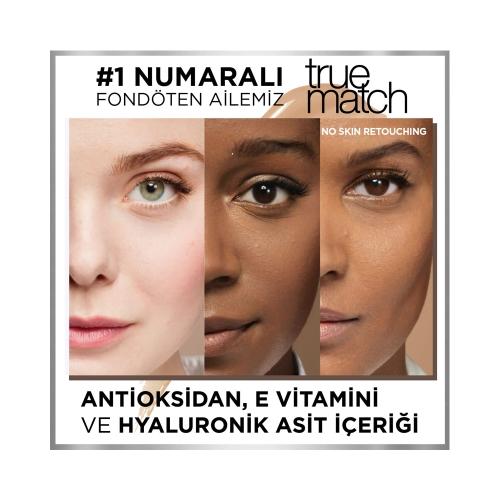 L'Oréal Paris True Match Cilt Bakım Etkili Fondöten 4D4W Natural Dore
