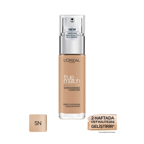 L'Oréal Paris True Match Cilt Bakım Etkili Fondöten 5N Sable/Sand