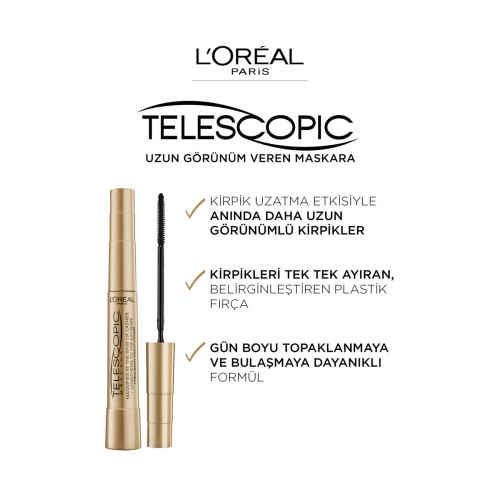 L'Oréal Paris Telescopic Gold Maskara Siyah