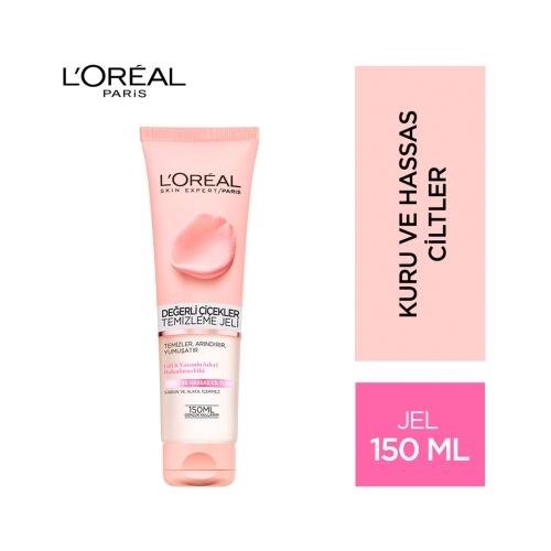 L'Oréal Paris Değerli Çiçekler Temizleme Jeli Kuru ve Hassas Ciltler 150 Ml