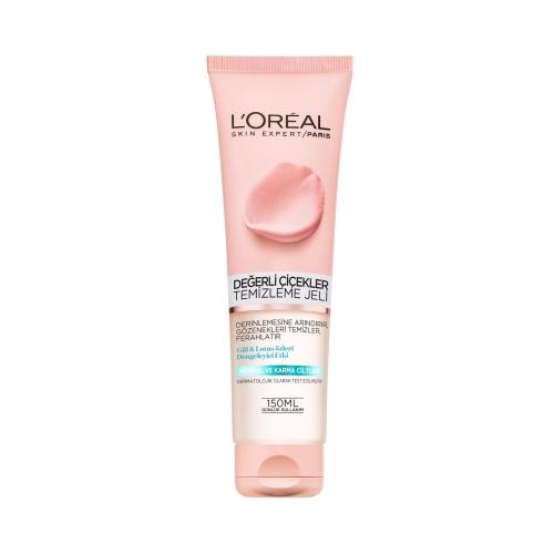 L'Oréal Paris Değerli Çiçekler Temizleme Jeli Normal/Karma 150 Ml