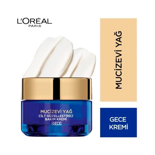 L'Oréal Paris Mucizevi Yağ Krem Gece 50 Ml