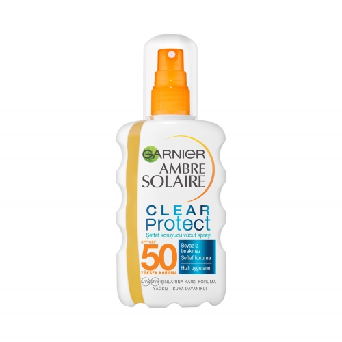 Garnier Ambre Solaire Clear Protect Şeffaf Vücut Spreyi Gkf50 200 Ml