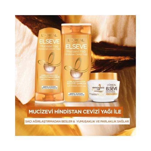 L'Oréal Paris Elseve Hindistan Cevizi&Değerli Yağlar Bakım Maskesi 300 Ml