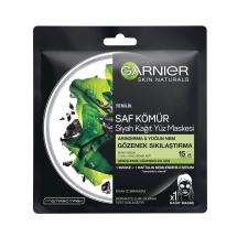 Garnier Saf Kömür Siyah Kağıt Yüz Maskesi Gözenek Sıkılaştırıcı