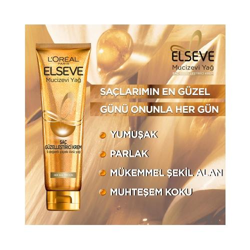 L'Oréal Paris Elseve Saç Güzelleştirici Mucizevi Yağ Kremi Kuru ve Sert Saçlar 150 Ml